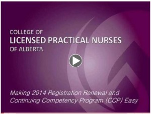 Video thumbnail - Making 2014 Registration Renewal and CCP Easy