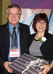 Ted Langford with Linda Stanger, CLPNA Executive Director/Registrar