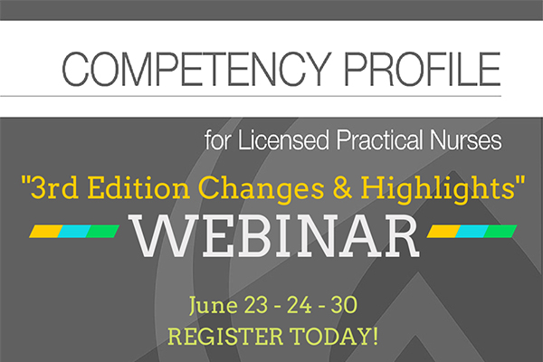 Competency Profile 3rd Edition Webinars UPDATE