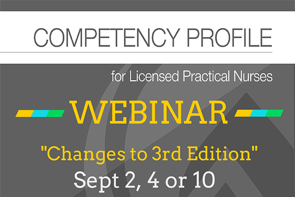 Competency Profile 3rd Edition Webinars SEPT 2015