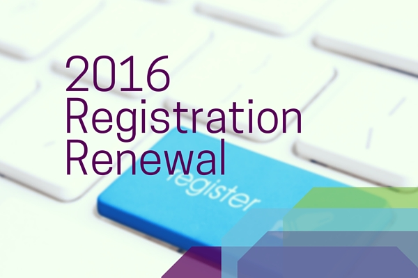 2016 Registration Renewal