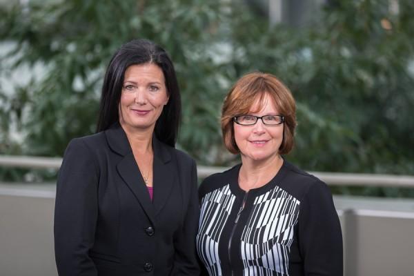 CLPNA President Jo-Anne Macdonald-Watson (left) and Executive Director Linda L. Stanger