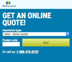 thePersonal Online Quote